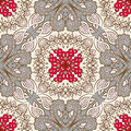Seamless floral pattern vector vintage background Stock Photos