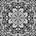 Seamless floral pattern vector white and black vintage background Royalty Free Stock Photography