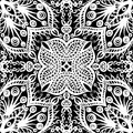 Seamless floral pattern vector white and black vintage background Royalty Free Stock Image