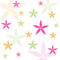 Seamless floral pattern wallpaper with fabric Royalty Free Stock Photos