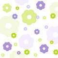 Seamless floral pattern wallpaper with fabric Royalty Free Stock Photography