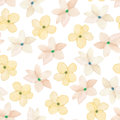 A seamless floral pattern with watercolor hand-drawn tender pink spring flowers Royalty Free Stock Photo
