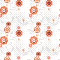 Seamless floral pattern white background Royalty Free Stock Photo