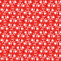 Seamless floral pattern white flowers on red background
