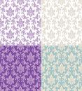 Seamless floral patterns Stock Photos