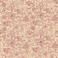 Seamless floral print canvas background in vector Royalty Free Stock Photo