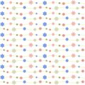 Seamless floral repetition pattern paper for wrapping paper gift