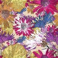 Seamless floral retro pattern . Blue, red meadow flowers. Royalty Free Stock Photo