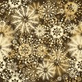 Seamless floral snowflakes decor Stock Images