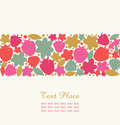 Seamless floral stripe with berries flowers and leafs decorative design element for cute cards banners borders scrapbook Royalty Free Stock Image