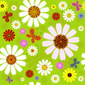 Seamless floral summer pattern Stock Image