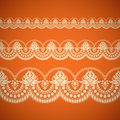 Seamless floral tiling borde border inspired by old indian ornaments Royalty Free Stock Image