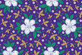 Seamless floral vector background fabrics cloths Stock Photography