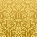 Seamless floral vintage gold wallpaper Royalty Free Stock Photos