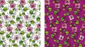 Seamless floral wallpaper background Royalty Free Stock Images
