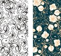 Seamless floral wallpaper background Stock Photo