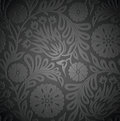 Seamless floral wallpaper with emboss effect vector Stock Photography
