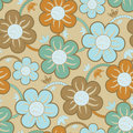 Seamless Floral Wallpaper Pattern Royalty Free Stock Images