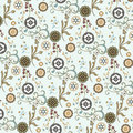 Seamless floral wallpaper pattern Stock Photography
