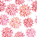 Seamless floral watercolor ornament hand painted Royalty Free Stock Photos