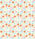 Seamless flower background Stock Image