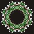 Seamless flower emerald silver and gold fashion print shine be used for wallpaper pattern fills wedding invitations surface Stock Photography