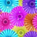 Seamless flower gerbera patter plus eps vector file Stock Photo