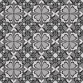 Seamless flower monochrome wallpaper Royalty Free Stock Photo