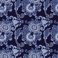 Seamless flower paisley design Royalty Free Stock Images