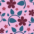 Seamless flower pattern. Stock Image