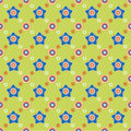 Seamless flower pattern background vector Stock Photography