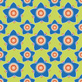 Seamless flower pattern background vector Royalty Free Stock Photos