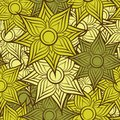 Seamless flower pattern background vector illustration of the Royalty Free Stock Images