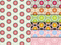 Seamless flower pattern colorful set vector Stock Photo
