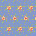 Seamless flower pattern colorful set vector Stock Photography