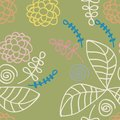 Seamless flower pattern green Stock Image