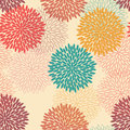Seamless flower pattern in retro style tileable for backgrounds Stock Image