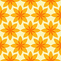 Seamless flower pattern yellow geometric Royalty Free Stock Photos
