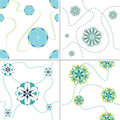 Seamless Flower Patterns Royalty Free Stock Photography