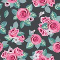 Seamless flower rose pattern file eps format Stock Image