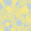 Seamless flower yellow and blue background Stock Photos