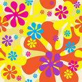 Seamless Flowers Background Stock Photos