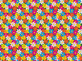 Seamless flowers pattern abstract made of Stock Photos