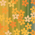 Seamless flowers and stripes background Royalty Free Stock Photography