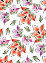 Seamless flowers for textile fabrics Royalty Free Stock Photo