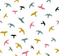 Seamless flying birds. Vector seamless pattern. Background with seagulls. Royalty Free Stock Photo