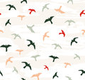 Seamless flying birds. Vector seamless pattern. Royalty Free Stock Photo