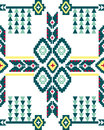 Seamless folk geometric design ethnic or textile or print craft Stock Images