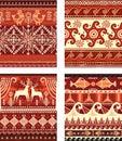 Seamless folk ornament texture Royalty Free Stock Photo