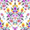 Seamless  folk pattern Royalty Free Stock Photo